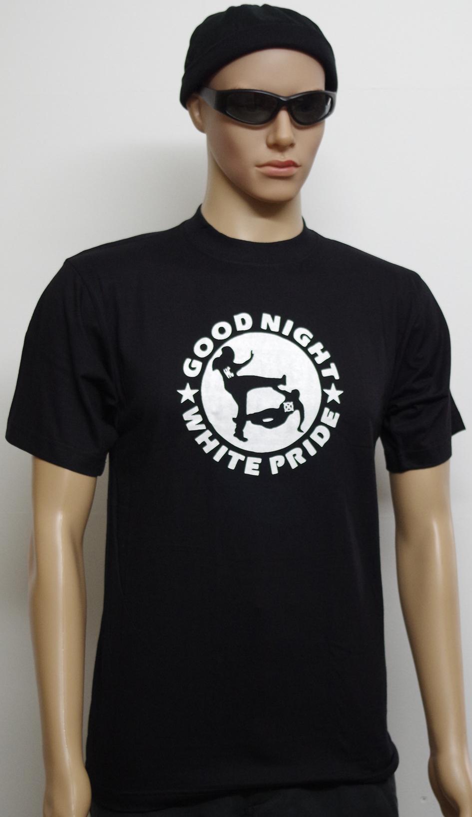 t shirt good night white pride politik punk u schlaue spr che t shirts m nner. Black Bedroom Furniture Sets. Home Design Ideas