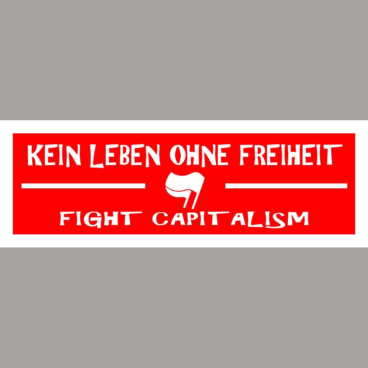Aufkleber 20 Stück Fight Capitalism